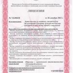 Лицензия МЧС Спецстройсистемы л1